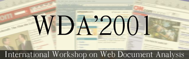 International Workshop on Web Document Analysis - WDA'2001
